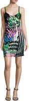 Roberta Einer Galaxy Embellished Silk Slip Dress