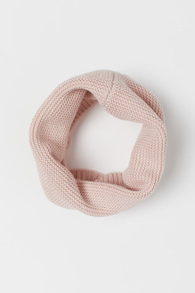 H&M Garter-stitched Tube Scarf - Pink