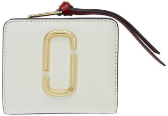 Marc Jacobs Off-White and Navy Mini Snapshot Compact Wallet