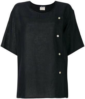 Giorgio Armani Pre-Owned buttoned crew neck T-shirt