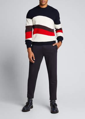 Moncler Men's Striped Crewneck Sweater