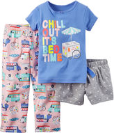Carter's Chill 3-pc. Pajama Set - Baby Girls 12m-24m