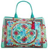 Debbie Katz Embroidered Canvas Tote