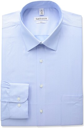 Van Heusen Men's FIT Dress Shirts Herringbone Solid (Big and Tall)