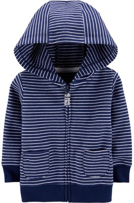 Carter's Baby Striped Zip-Up French Terry Hoodie