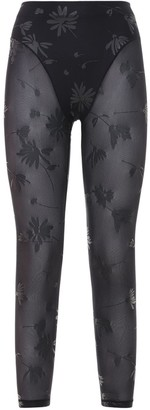 Adam Selman Sport Sheer French Cut Leggings