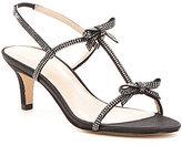 Pelle Moda Berta Rhinestone-Embellished Satin Dress Sandals