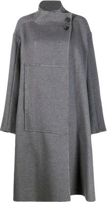 3.1 Phillip Lim Classic Melton Wool Blanket Coat