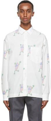 Jacquemus Reversible White Flip Flop Print La Chemise Jacques Shirt