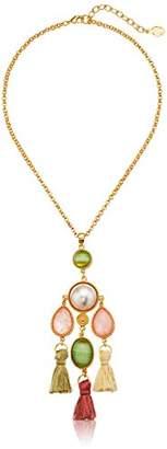 Ben-Amun Jewelry Spring Blush Silk Tassel Drop Fish Hook Dangle Drop Earrings