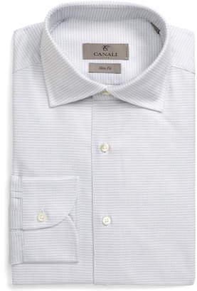 Canali Slim Fit Check Dress Shirt