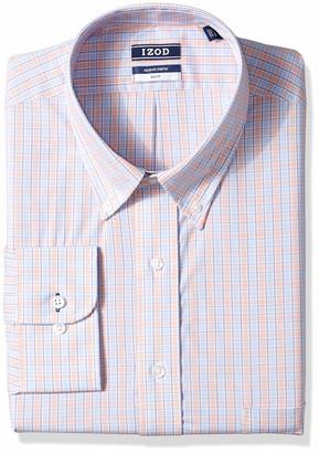 Izod Men's FIT Dress Shirt Stretch Check (Big and Tall)