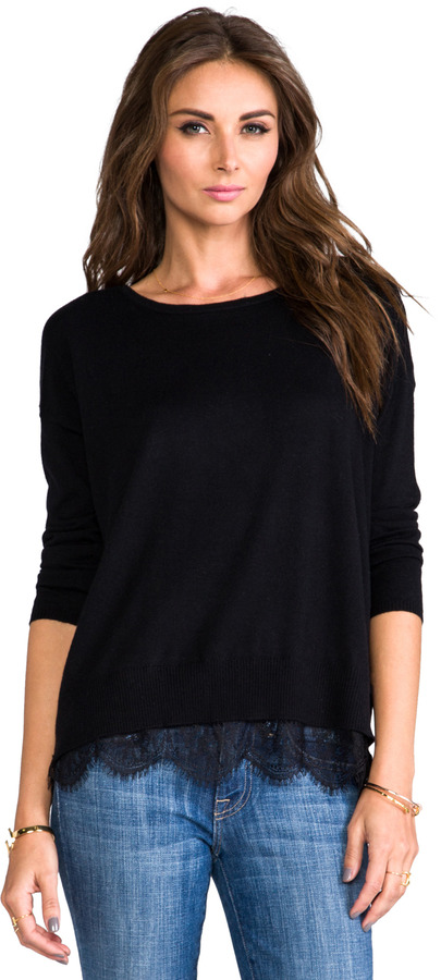 Joie Hilano Sweater with Lace Trim