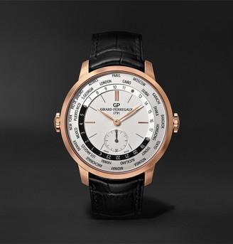 Girard Perregaux 1966 Ww.tc Automatic 40mm 18-Karat Rose Gold And Alligator Watch