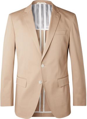 HUGO BOSS Beige Hartley Slim-Fit Cotton-Blend Twill Blazer