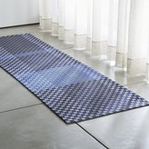 Crate & Barrel Allta Blue Indoor/Outdoor Rug Runner