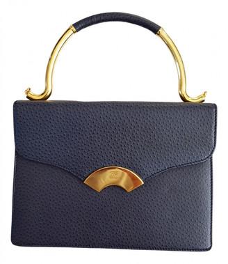 Karl Lagerfeld Paris Navy Leather Handbags