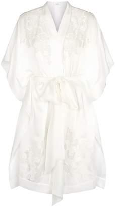 Carine Gilson Silk Lace Trim Robe