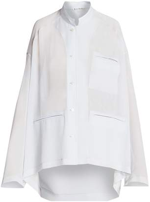 Acne Studios Shana Georgette Pocket Shirt