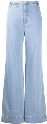 Katharine Hamnett High Rise Flared Jeans