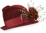 Philip Treacy Feather Flower Wool Felt Fedora
