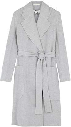 Acne Studios Grey Belted Wool Coat
