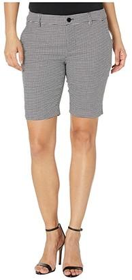 Lauren Ralph Lauren Petite Stretch-Cotton Twill Shorts (Black/Silk White) Women's Shorts