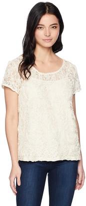 Rafaella Women's Petite Corded Lace Top