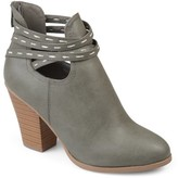 Brinley Co. Women's Faux Leather Strappy Chunky Stacked Heel Booties
