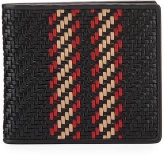 Ermenegildo Zegna Men's Pelle Tessuta Woven Leather Bi-Fold Wallet