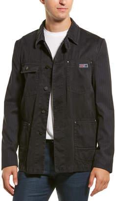 Lanvin Workwear Washed Wool Jacket