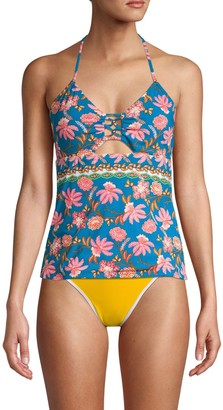 Nanette Lepore Swim Floral Open-Back Tankini
