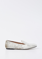 Dries Van Noten silver velvet slip on