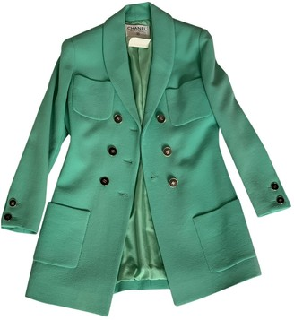 Chanel Turquoise Wool Jackets