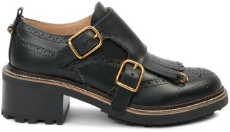 Chloé Franne Monk-Strap Leather Loafers