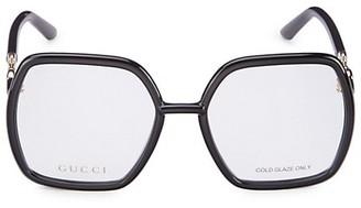 Gucci Logo 55MM Oversized Geometric Optical Glasses