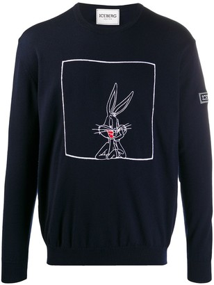 Iceberg embroidered Bugs Bunny pullover