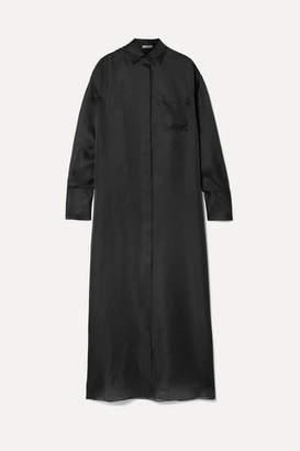 The Row Siena Oversized Silk-organza Maxi Dress - Black