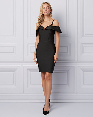 Le Château Knit Cold Shoulder Banded Dress