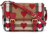 Burberry heart and House Check satchel