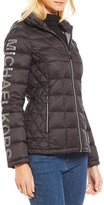 MICHAEL Michael Kors Packable Logo Sleeve Down Jacket