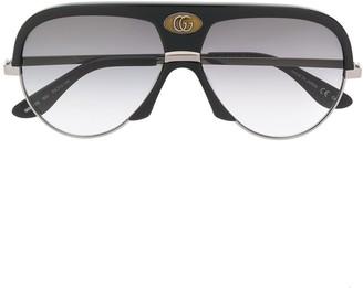 Gucci oversized aviator frame sunglasses