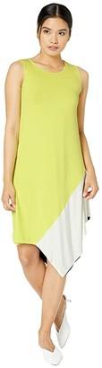 Fuzzi Color Block Cotton Jersey Dress (Multi) Women's Dress