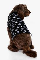 boohoo Isabella Snowflake Dog Christmas Jumper black