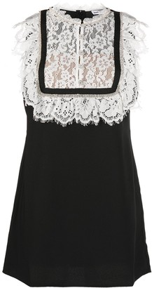 Self-Portrait Lace Bib Dress