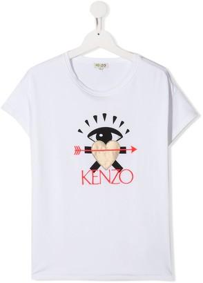 Kenzo TEEN heart patch T-shirt