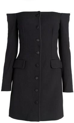 Dolce & Gabbana Off-The-Shoulder Wool-Blend Jacket Dress