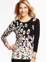 Talbots Abstract Animal-Print Sweater