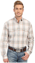 Stetson Sand Plaid Button Front Long Sleeve Shirt