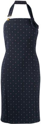 Boutique Moschino Halterneck Tulip-Embroidered Dress